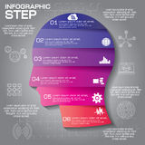 Το πρότυπο σχεδίου Infographic μπορεί να χρησιμοποιηθεί για το σχεδιάγραμμα ροής της δουλειάς, dia Στοκ Φωτογραφίες