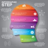 Το πρότυπο σχεδίου Infographic μπορεί να χρησιμοποιηθεί για το σχεδιάγραμμα ροής της δουλειάς, dia Στοκ εικόνες με δικαίωμα ελεύθερης χρήσης