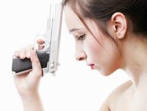 το πυροβόλο όπλο απομόνω&sig Στοκ Φωτογραφία