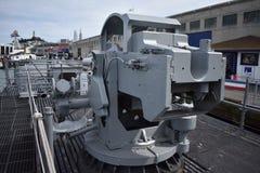 Το πυροβόλο όπλο γεφυρών του USS Pompanito, SS-383, 1 Στοκ φωτογραφίες με δικαίωμα ελεύθερης χρήσης