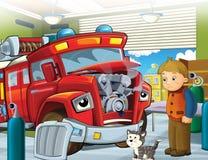 Το πυροσβεστικό όχημα - απεικόνιση για τα παιδιά ελεύθερη απεικόνιση δικαιώματος
