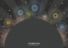 Το πυροτέχνημα εορτασμού χρωματίζει το υπόβαθρο Στοκ εικόνα με δικαίωμα ελεύθερης χρήσης