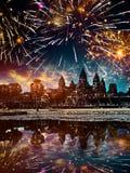Το πυροτέχνημα πέρα από Angkor wat, Siem συγκεντρώνει, Καμπότζη Στοκ εικόνες με δικαίωμα ελεύθερης χρήσης