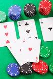 το πόκερ κερδίζει Στοκ Φωτογραφίες