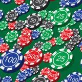 Το πόκερ πελεκά το άνευ ραφής σχέδιο Στοκ φωτογραφία με δικαίωμα ελεύθερης χρήσης
