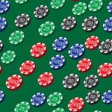 Το πόκερ πελεκά το άνευ ραφής σχέδιο Στοκ εικόνα με δικαίωμα ελεύθερης χρήσης