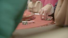 Το πόκερ πελεκά κοντά επάνω απόθεμα βίντεο