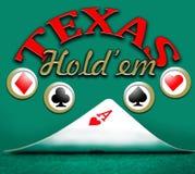 Το πόκερ Τέξας τους κρατά Στοκ εικόνα με δικαίωμα ελεύθερης χρήσης