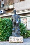Το πόλης κέντρο Kragujevac - η μεγαλύτερη πόλη της περιοχής Sumadija Αναμνηστικό μνημείο αγαλμάτων στο πρώτο μπαστούνι προς τιμή  Στοκ εικόνες με δικαίωμα ελεύθερης χρήσης