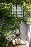 Το πότισμα μπορεί και παλαιό washbasin και σε μια ιταλική βίλα r στοκ φωτογραφίες με δικαίωμα ελεύθερης χρήσης