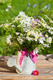 Το πότισμα μπορεί με τα λουλούδια Στοκ εικόνες με δικαίωμα ελεύθερης χρήσης