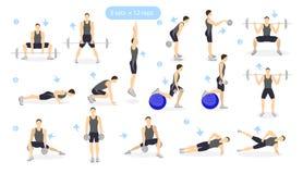 Το πόδι workout έθεσε απεικόνιση αποθεμάτων