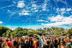 Το πλήθος στο φεστιβάλ Στοκ Φωτογραφία