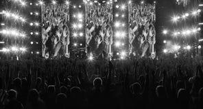 Το πλήθος των ανθρώπων καταδεικνύει Στοκ φωτογραφία με δικαίωμα ελεύθερης χρήσης