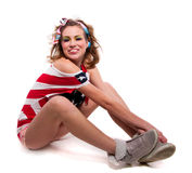 Θετικό αμερικανικό κορίτσι Στοκ φωτογραφίες με δικαίωμα ελεύθερης χρήσης