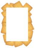 Το πλαίσιο του στρογγυλού μπισκότου σε ένα άσπρο υπόβαθρο Στοκ Εικόνες