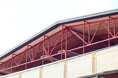 Το πλαίσιο χάλυβα για τις ακτίνες στεγών Λεπτομέρειες κατασκευής Στοκ Εικόνα