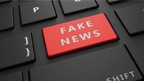 το πλαστό κόκκινο πληκτρολόγιο ειδήσεων εισάγει το κουμπί Στοκ φωτογραφία με δικαίωμα ελεύθερης χρήσης