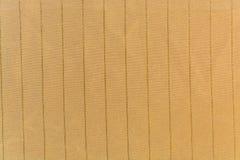 Το πλεκτό ριγωτό ύφασμα ocher Στοκ Εικόνα