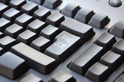 Το πληκτρολόγιο βρίσκει την εργασία Στοκ Εικόνα