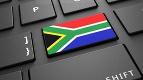 Το πληκτρολόγιο σημαιών της Νότιας Αφρικής εισάγει το κουμπί Στοκ φωτογραφίες με δικαίωμα ελεύθερης χρήσης