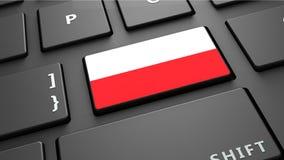 Το πληκτρολόγιο σημαιών της Πολωνίας εισάγει το κουμπί Στοκ Φωτογραφίες