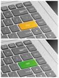 Το πληκτρολόγιο lap-top με αγοράζει και πωλεί τα κουμπιά Στοκ Φωτογραφία
