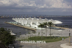 Το Ρίο Δημαρχείο ανοίγει το μουσείο του αύριο στην περιοχή λιμένων Στοκ φωτογραφίες με δικαίωμα ελεύθερης χρήσης