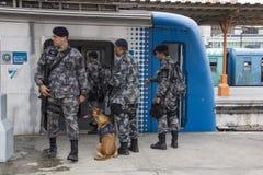 Το Ρίο κρατά την αντι κατάρτιση τρομοκρατίας για τους Ολυμπιακούς Αγώνες Ρίο το 2016 Στοκ φωτογραφία με δικαίωμα ελεύθερης χρήσης