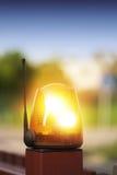 Το ραδιόφωνο έλεγξε το κίτρινο/πορτοκαλί φως έκτακτης ανάγκης προειδοποίησης Στοκ φωτογραφίες με δικαίωμα ελεύθερης χρήσης