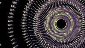 Το ρευστό κινούμενο περιστρεφόμενο πράσινο μάτι αλυσίδων μετάλλων περιβάλλει την άνευ ραφής βρόχων νέα ποιότητα υποβάθρου γραφική διανυσματική απεικόνιση