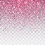 Το ροζ ακτινοβολεί σπινθήρισμα σε ένα διαφανές υπόβαθρο Το δονούμενο υπόβαθρο με αστράφτει φω'τα επίσης corel σύρετε το διάνυσμα  απεικόνιση αποθεμάτων
