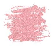 Το ροζ ακτινοβολεί brushstroke στοκ εικόνα