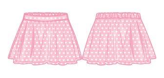 Το ροζ καηκε τη φούστα Στοκ εικόνες με δικαίωμα ελεύθερης χρήσης