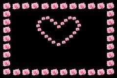 το ροζ καρδιών συνόρων αυ&x Στοκ Εικόνα
