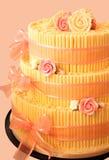 το ροζ συμβαλλόμενων μερών κρέμας κέικ αυξήθηκε Στοκ Εικόνα