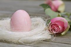 το ροζ φωλιών αυγών Πάσχας  Στοκ φωτογραφίες με δικαίωμα ελεύθερης χρήσης
