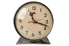 το ρολόι απομόνωσε αναδρομικό Στοκ φωτογραφία με δικαίωμα ελεύθερης χρήσης