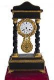 το ρολόι απομόνωσε τον πα&l Στοκ Φωτογραφία