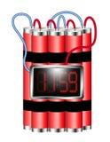 το ρολόι βομβών σύνδεσε ψηφιακό εκρήγνυται το χρόνο ελεύθερη απεικόνιση δικαιώματος