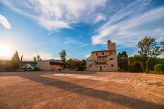 Το ρολόι ηλιοβασιλέματος στο πάρκο Turia Ισπανία Βαλέντσια στοκ εικόνες