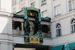 Το ρολόι Ankeruhr στη Βιέννη Στοκ Εικόνα