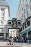 Το ρολόι Ankeruhr στη Βιέννη Στοκ εικόνες με δικαίωμα ελεύθερης χρήσης