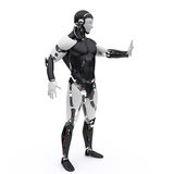 το ρομπότ λέει τη στάση Στοκ Εικόνα
