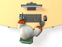 Το ρομπότ ψάχνει με το προσωπικό Η/Υ διανυσματική απεικόνιση