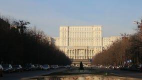 Το ρουμανικό Κοινοβούλιο, Βουκουρέστι απόθεμα βίντεο
