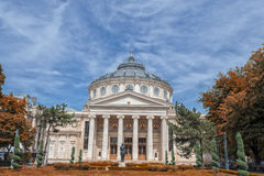 Το ρουμανικό Athenaeum Στοκ εικόνες με δικαίωμα ελεύθερης χρήσης