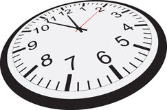το ρολόι ανασκόπησης απομόνωσε το λευκό Στοκ Φωτογραφίες