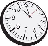 το ρολόι ανασκόπησης απομόνωσε το λευκό Στοκ Εικόνες