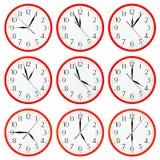 το ρολόι ανασκόπησης απομόνωσε το λευκό Στοκ φωτογραφία με δικαίωμα ελεύθερης χρήσης